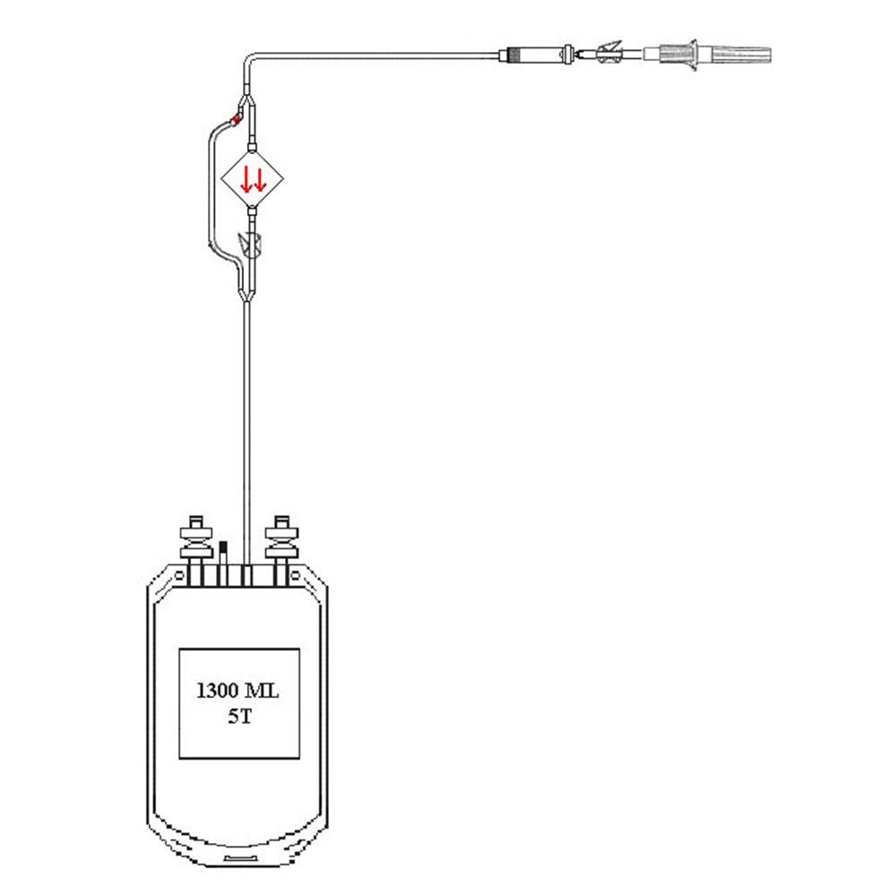 Kanbarrier Trombosit Lökosit Filtreli Sistemi Laboratuvar Modeli, 5 gün Saklama Torbalı, Ön Filtreli